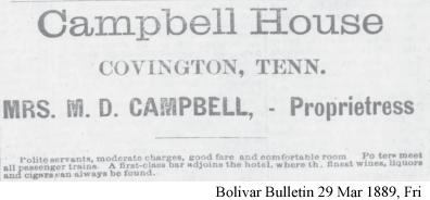 Campbell House Covington, TN