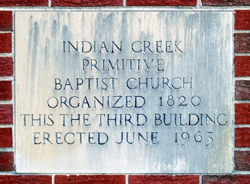 Indian Creek Primitive Baptist Church in Brighton Tennessee