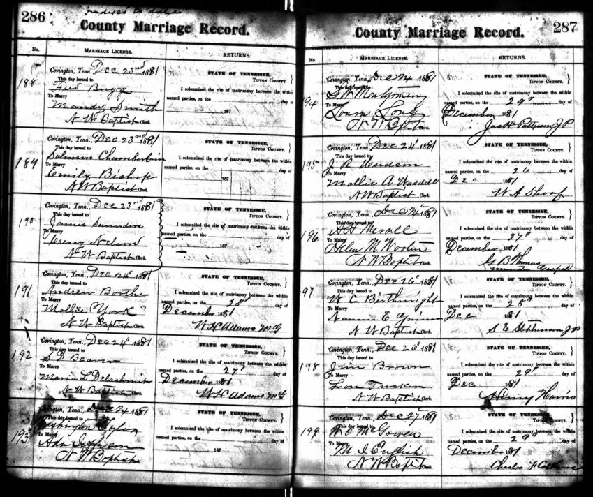 Marriage Record