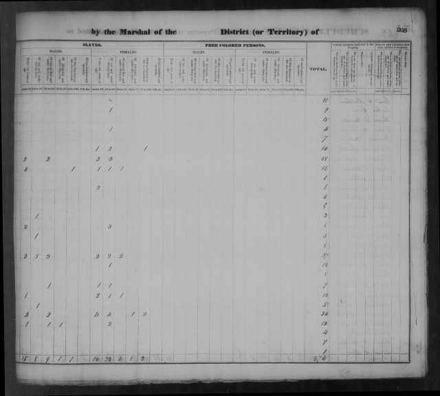 Page 3a Tipton County Census 1830