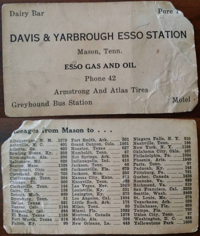 Davis & Yarbrough Esson Station Mason TN
