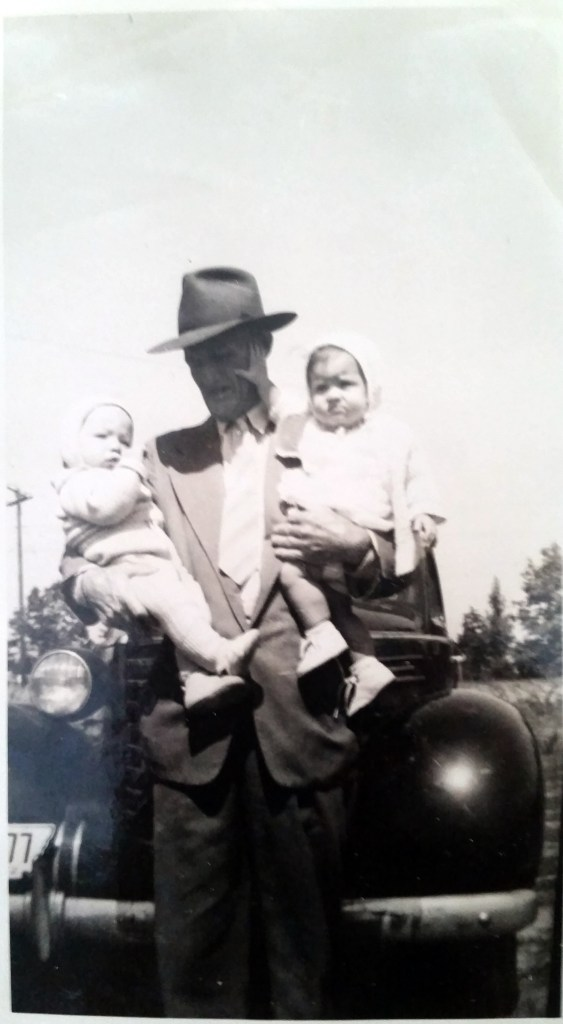 Dr Elbert Royal Nichols with his 1st two grandbabies