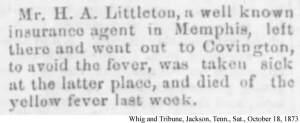 Littleton, H A