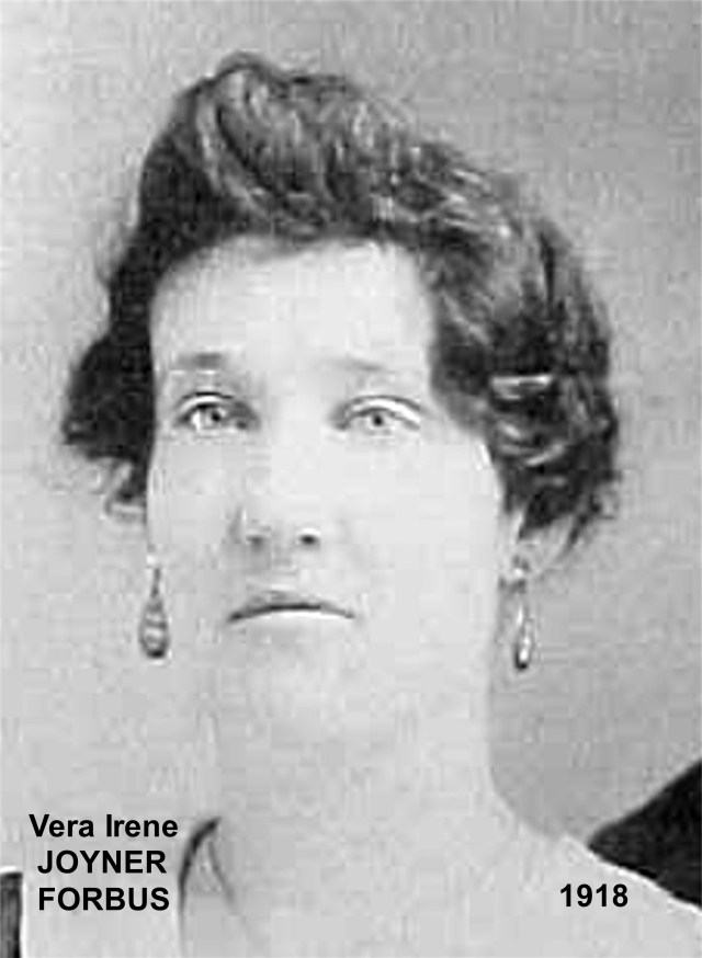 JOYNER, Vera Irene FORBUS