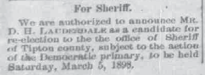 Announcements for Sheriff