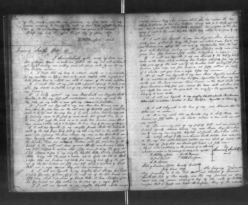 Leonard Smith Last Will and Testament
