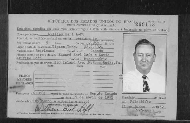 Rio de Janeiro, Brazil, Immigration Cards, 1900-1965