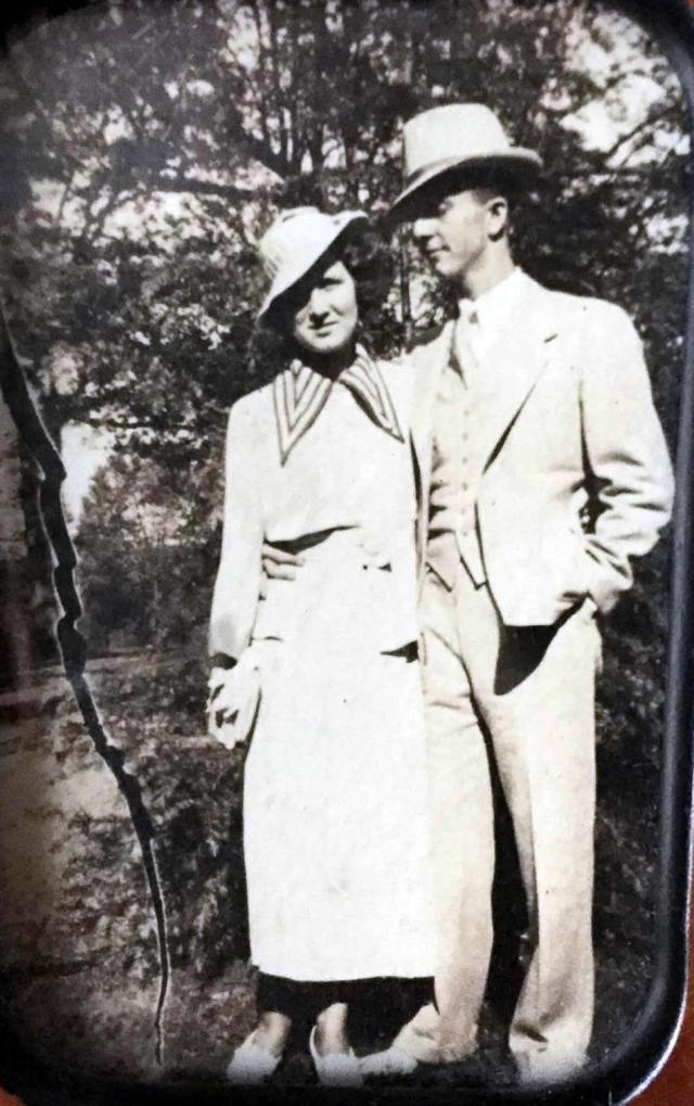 Uncle Lake Howard and Aunt Frances Nichols Howard on their Wedding Day