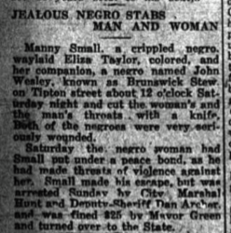 Jealous Negro Stabs Man and Woman