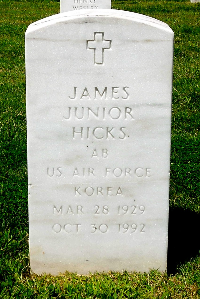 James William Hicks, 63, retired laborer, died Friday at his home. Services will be at 11 a.m. Thursday at St. John MB Church in Atoka, where he was a member, with burial in West Tennessee Veterans Cemetery in Memphis. Thomas Funeral Home of Covington has charge. Mr. Hicks leaves his stepfather, Walter Richardson of Mason; two stepbrothers, Walter Richardson Jr. of Memphis and Willie F. Richardson of Pontiac, Mich.; two stepsisters, Ophelia Stewart of Los Angeles and Jean Todd of Memphis, and a cousin who cared for him, Mary Carruthers Ivory of Memphis.