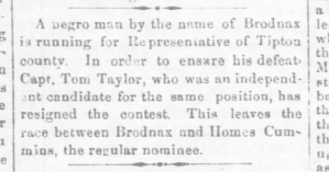 Brodnax Running for Representative
