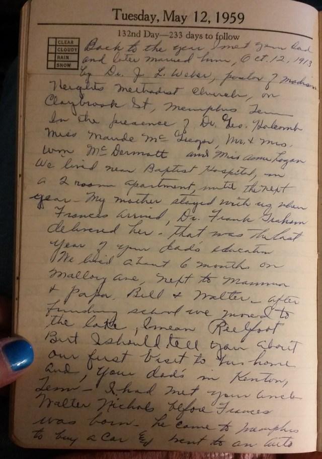 12 May 1959 - Mary Francis Piercy Nichols