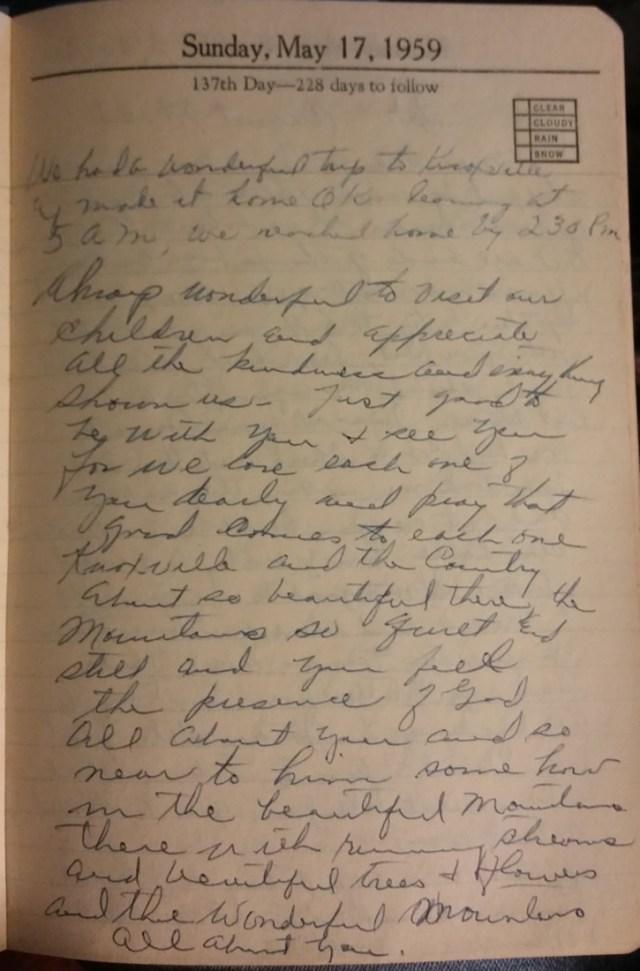 17 May 1959 - Mary Francis Piercy Nichols