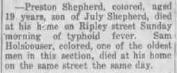 Shepherd, Preston