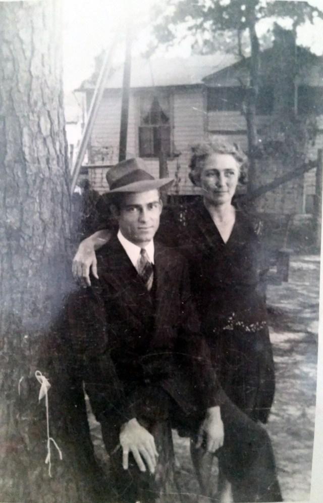 Mary Frances Piercy Nichols and son, Elbert Jr.