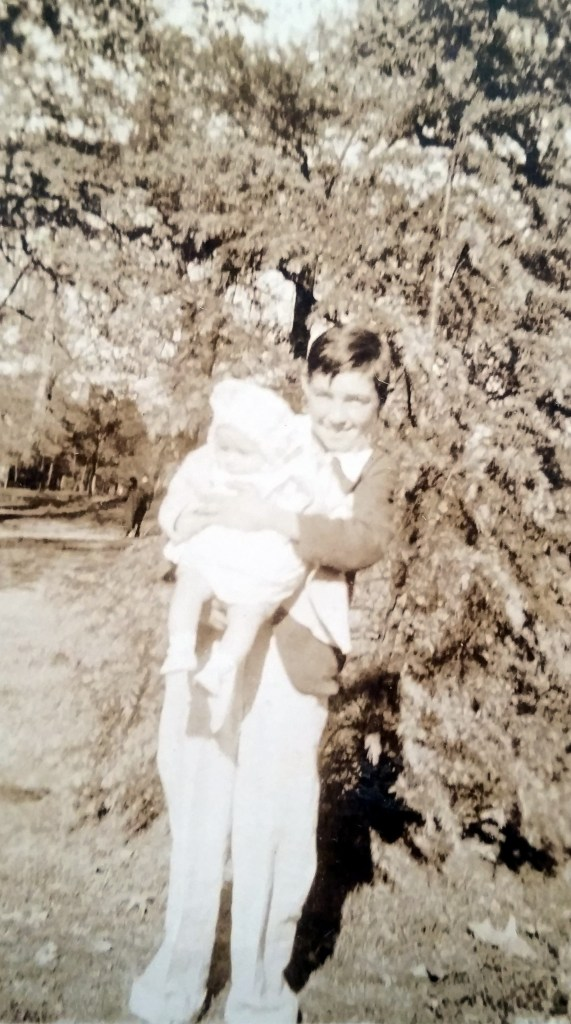 Richard Nichols holding Margaret Nichols