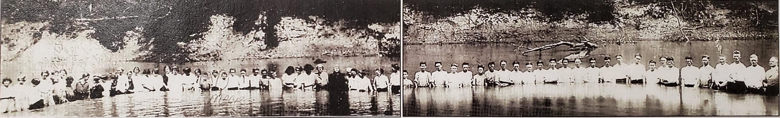 Baptismal for Charleston Baptist Church on Hatchie River 1922