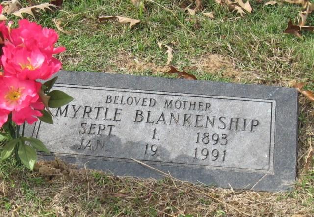 Myrtle Belle Rose Blankenship Grave Stone
