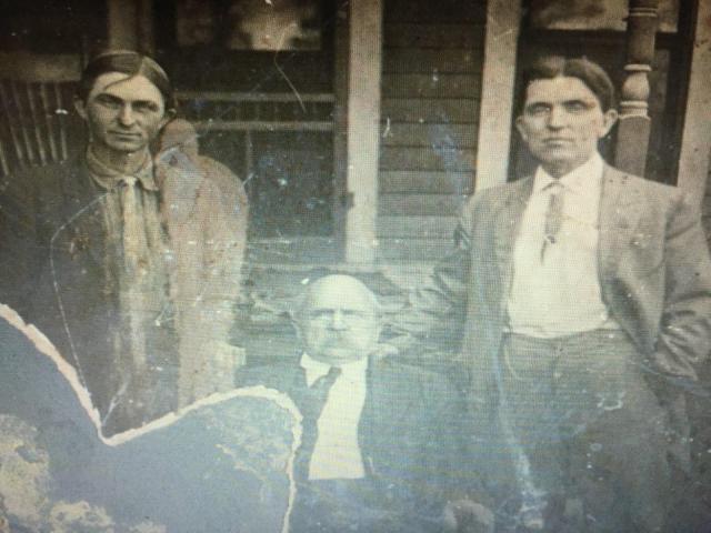 "William ""Peg Leg"" Freeman and his two sons Eddie & Albert Freeman. Sometime before 1917"