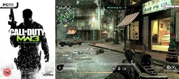 5.  Call of Duty Top modern 3 Warfare 10 Game Terbaik Orang Pertama Shooter tahun 2012
