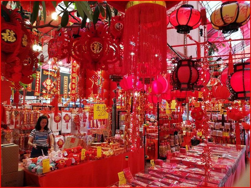 Red lanterns in Singapore