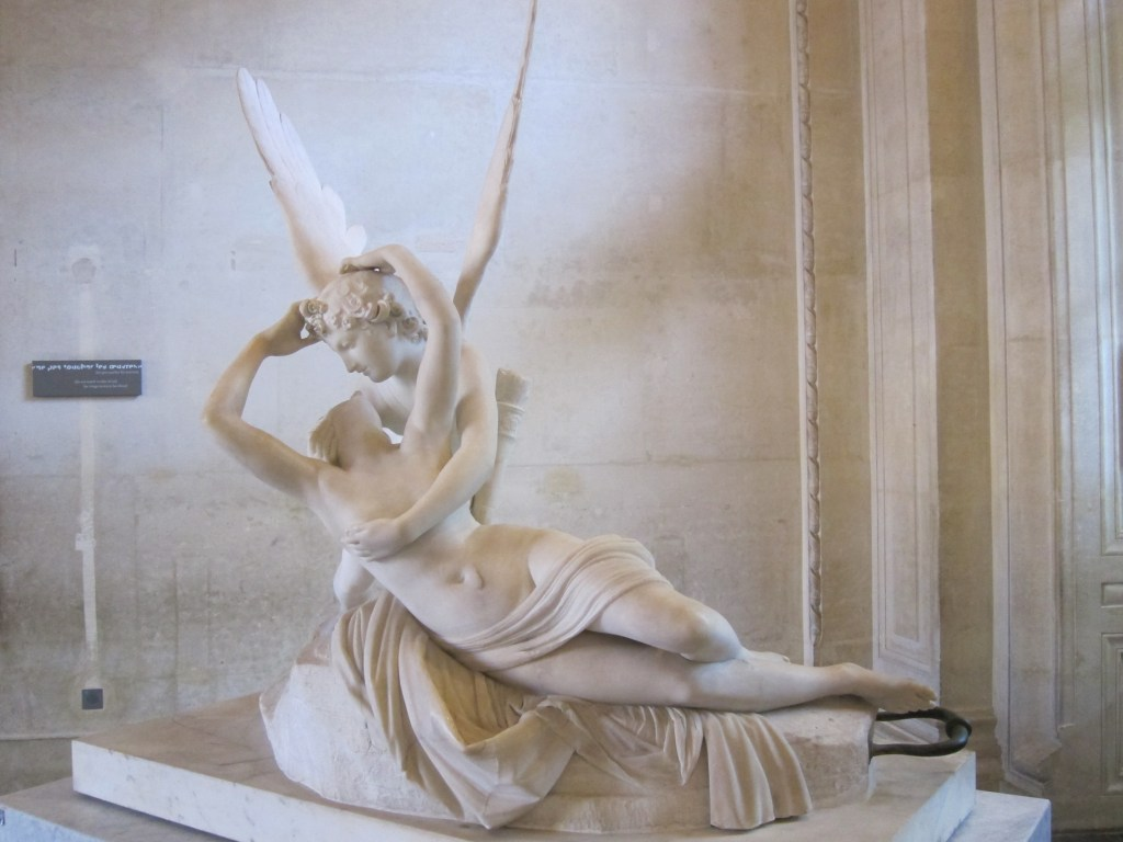 Psyche Revived by Cupid's Kiss, a statue by Antonio Canova