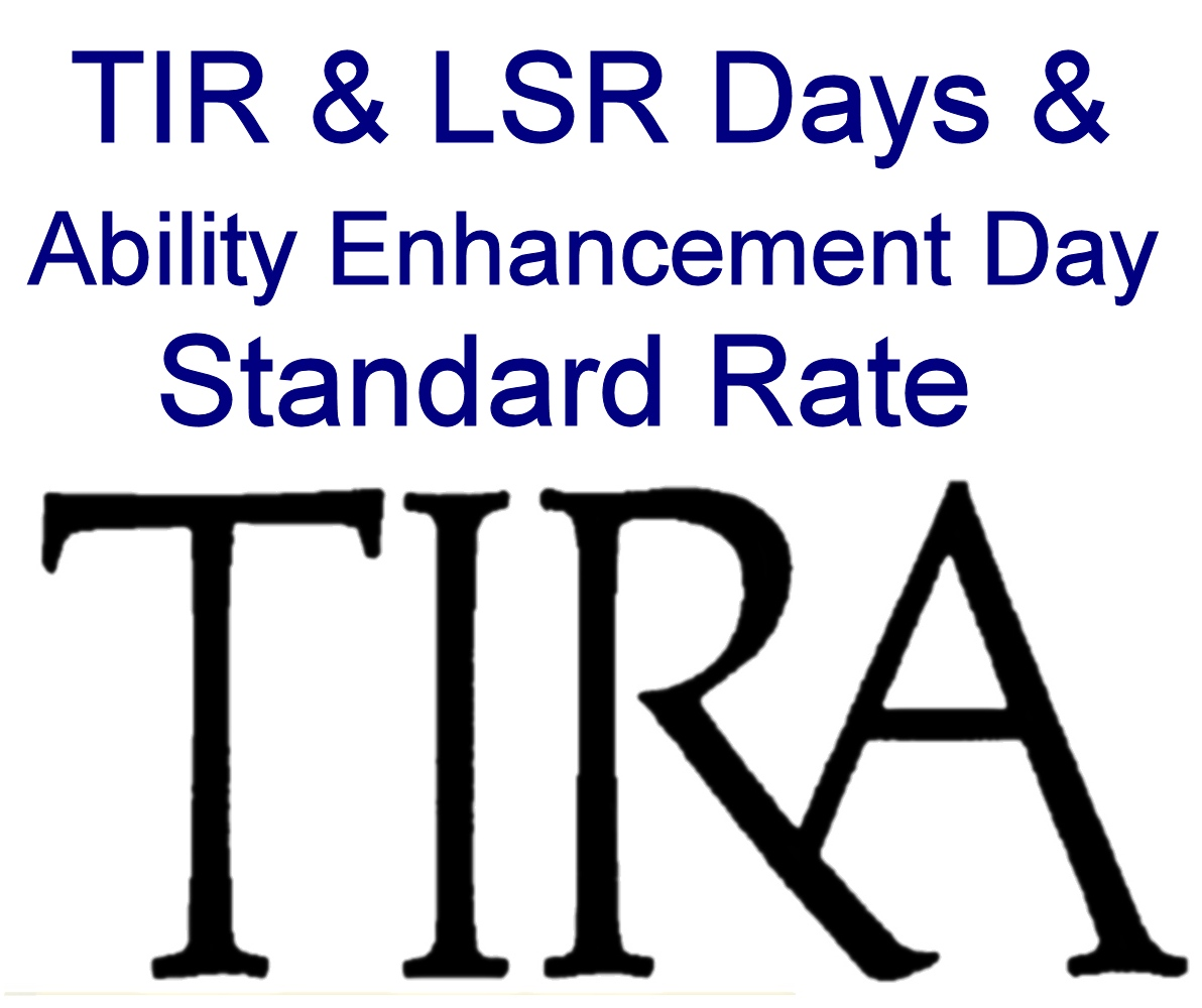 Std Rate: TIR & LSR Days and Ability Enhancement Day