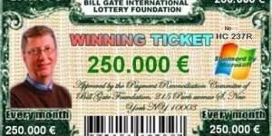 Les arnaques à la loterie sur internet, soyez vigilants !