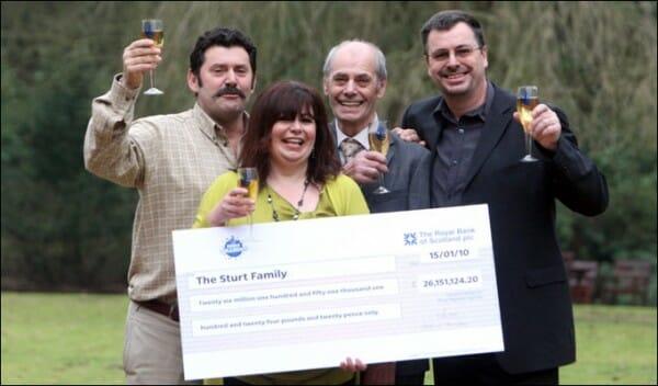 Gagnant EuroMillions au Royaume-Uni du vendredi 15 janvier 2010