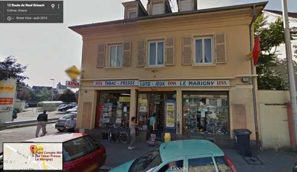 Le Marigny, à Colmar, où a été vendu le ticket EuroMillions gagnant du 24 juillet 2015