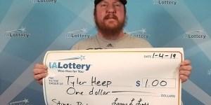 Humour: il a gagné un dollar, réclame un chèque géant et l'obtient!