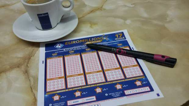 Ticket loterie Euromillions
