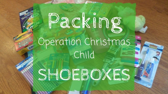 Packing Operation Christmas Child Shoeboxes