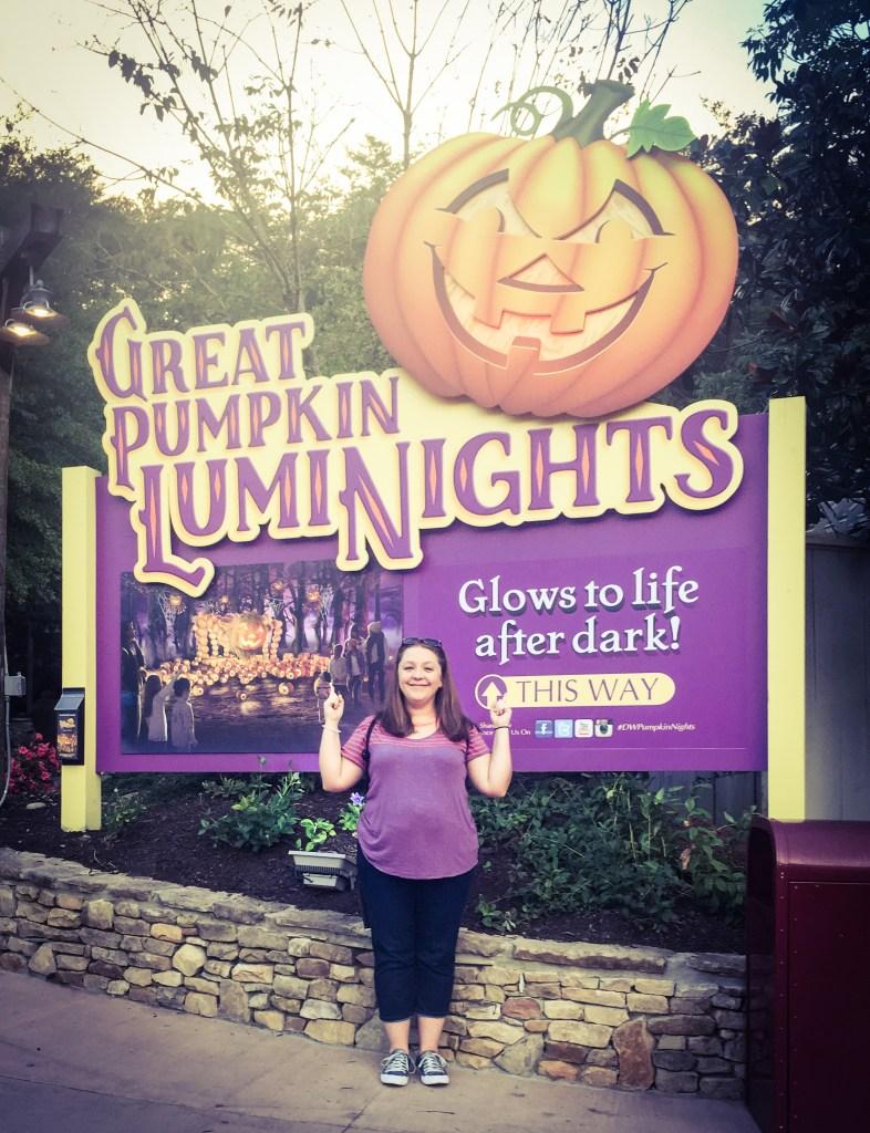 Dollywood Great Pumpkin LumiNights Sign TiredMommyTales