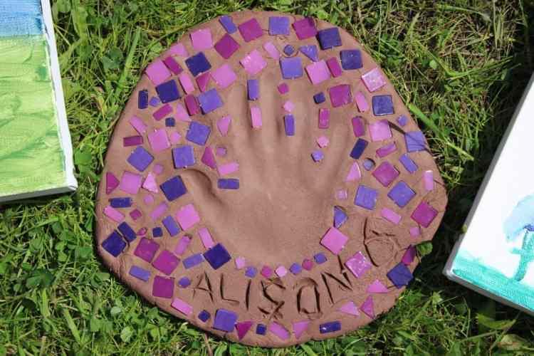Handprint stone craft