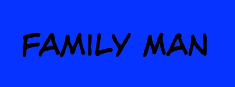 family man text image
