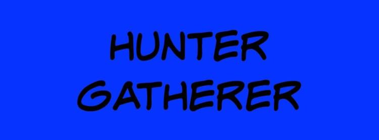 hunter gatherer text image