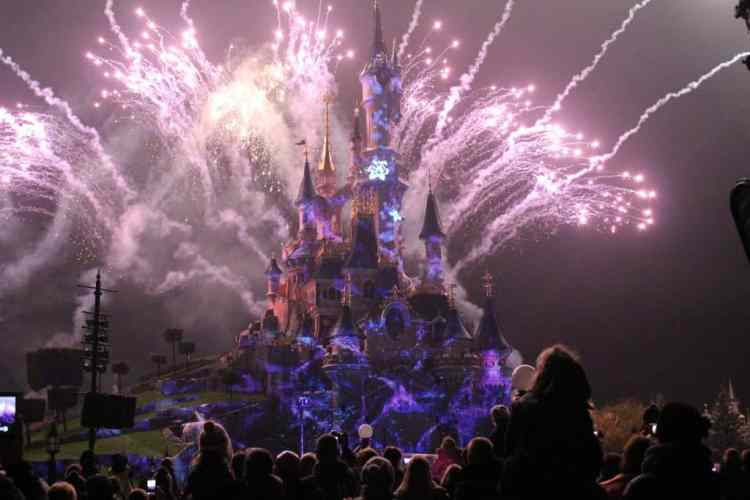 Disneyland Paris castle fireworks