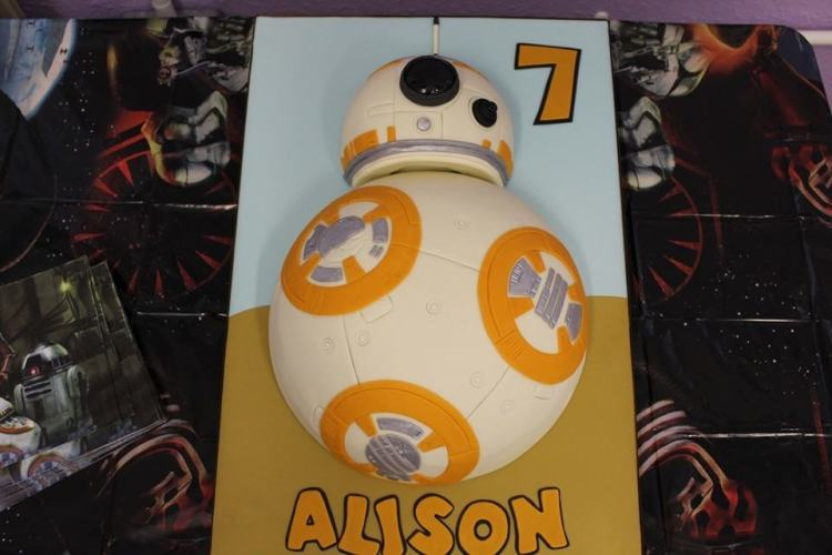 star wars party BB8 Cake