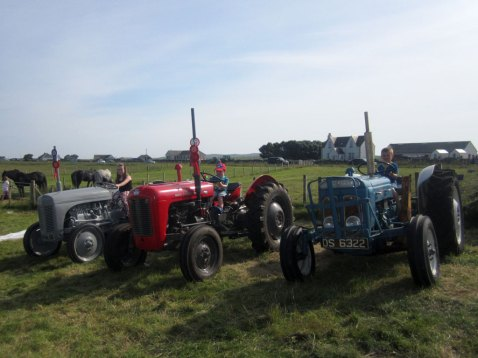 champion tractor at Tiree Show 2014 (centre)