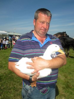 poultry champion at Tiree Show 2014