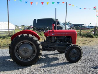 Massey Ferguson tractor at Tiree Show 2013