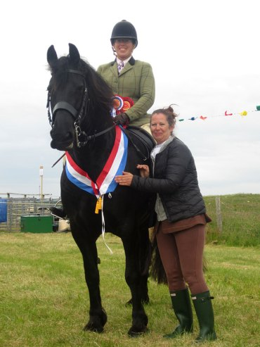 Friesian mare at Tiree Agricultural Society Show