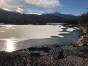 Baggersee im winter