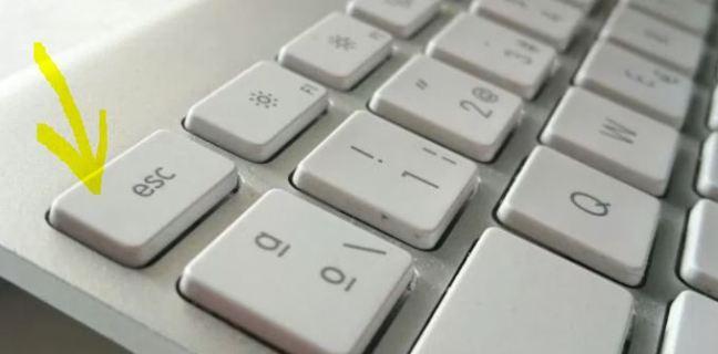 Se muestra la ubicación de la tecla ESC en un teclado