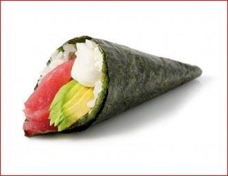 En la foto un maki del tipo temaki, una especie de cucurucho de alga