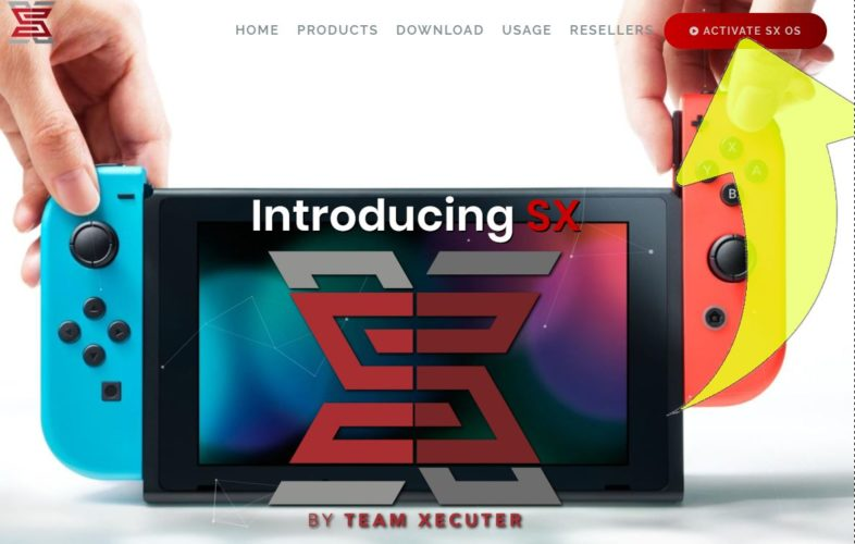 Captura de la home de la web del Team Xecuter