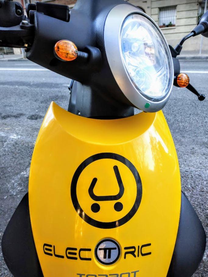 Prueba de scooters eléctricos de alquiler