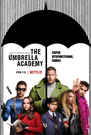 Carátula de la serie The Umbrella Academy con sus protagonistas