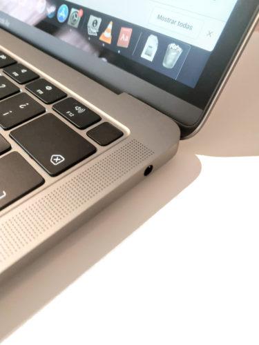 Foto de la tecla falsa que es un sensor de huellas